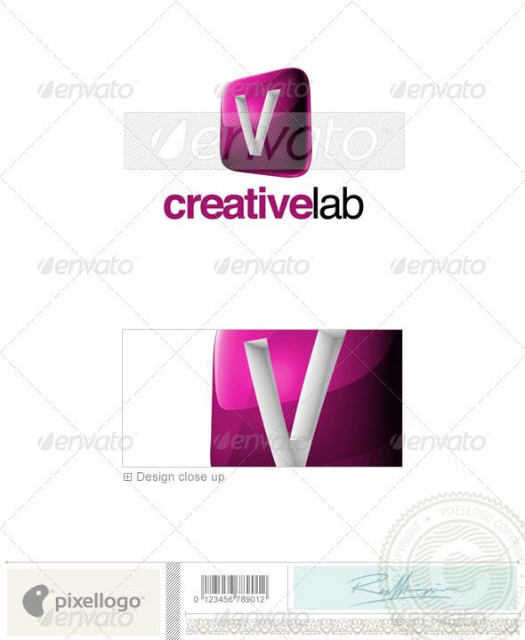 V Logo - 3D-687-V - Letters Logo Templates