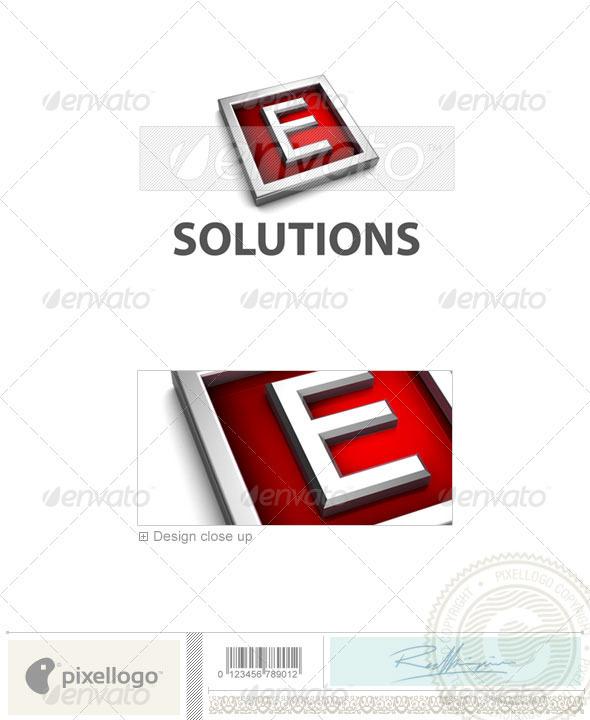 E Logo - 3D-549-E - Letters Logo Templates