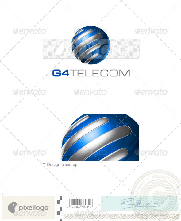 Communications Logo - 3D-659 - 3d Abstract