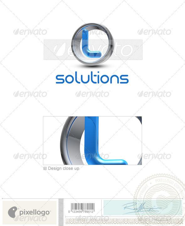 L Logo - 3D-288-L - Letters Logo Templates