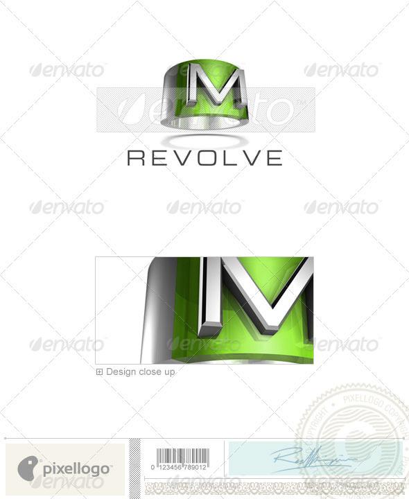 M Logo - 3D-547-M - Letters Logo Templates