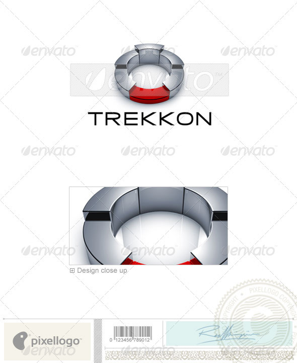 Technology Logo - 3D-674 - 3d Abstract