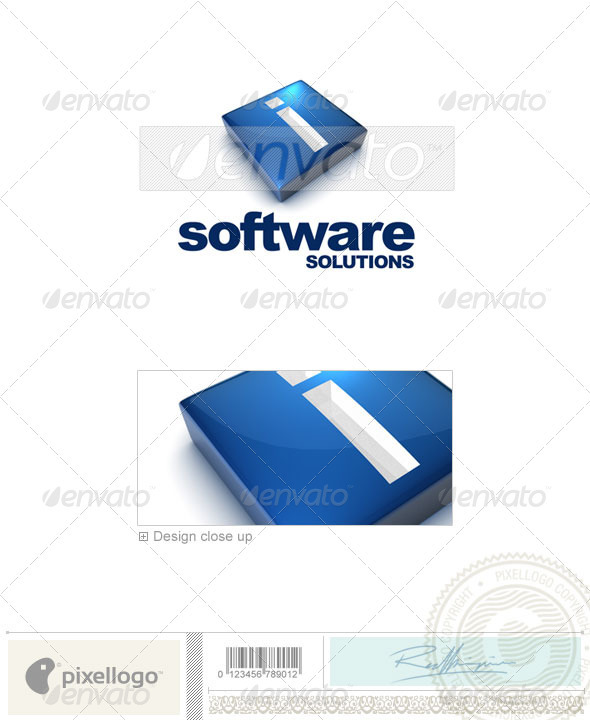 I Logo - 3D-644-I - Letters Logo Templates