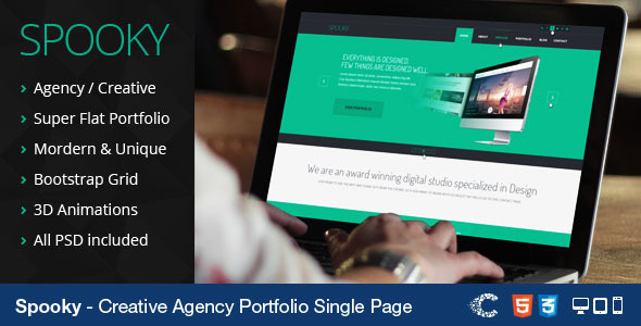 Spooky - Responsive One Page HTML Template - Portfolio Creative