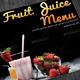 Bi-fold Square Fruit Juice Menu Template - GraphicRiver Item for Sale