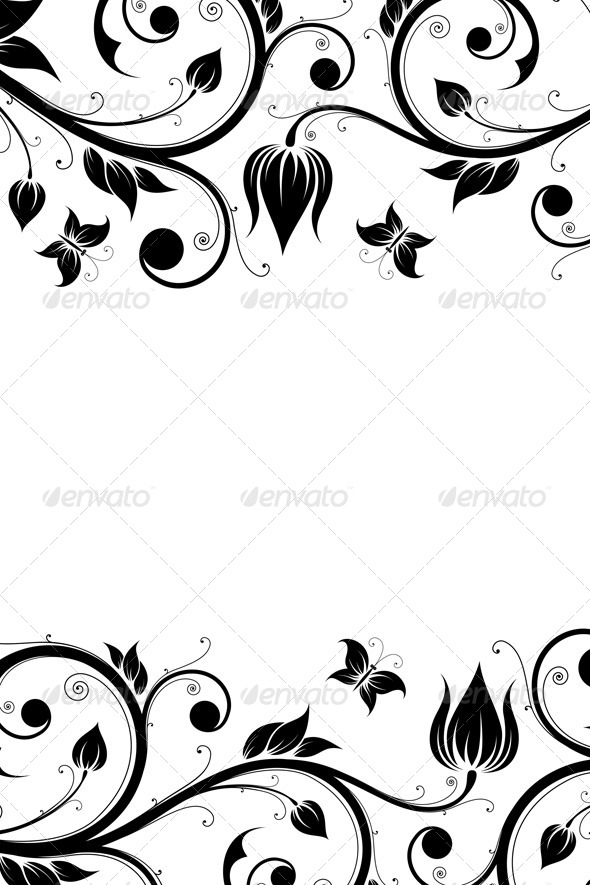 Floral Design Ornament - Flourishes / Swirls Decorative