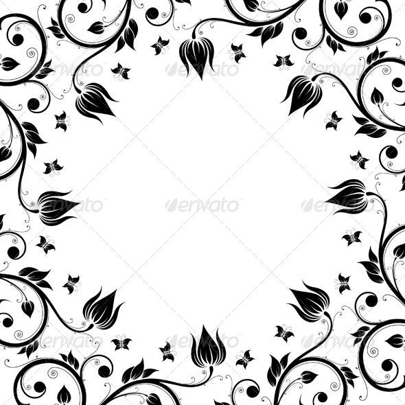 Floral Design Ornament Frame - Flourishes / Swirls Decorative