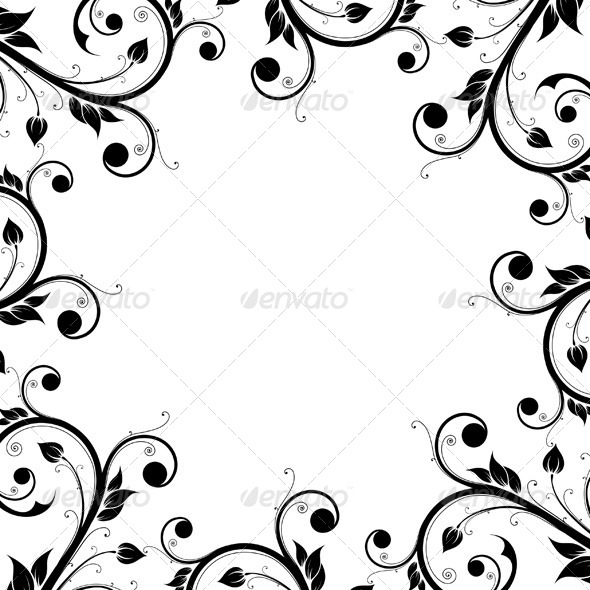 Floral Design Ornament Frame - Flourishes / Swirls Decorative