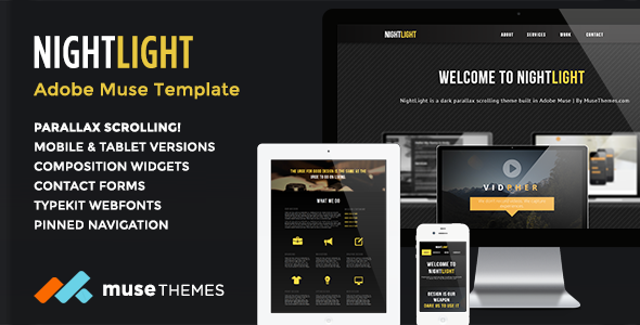 NightLight | Parallax Muse Template
