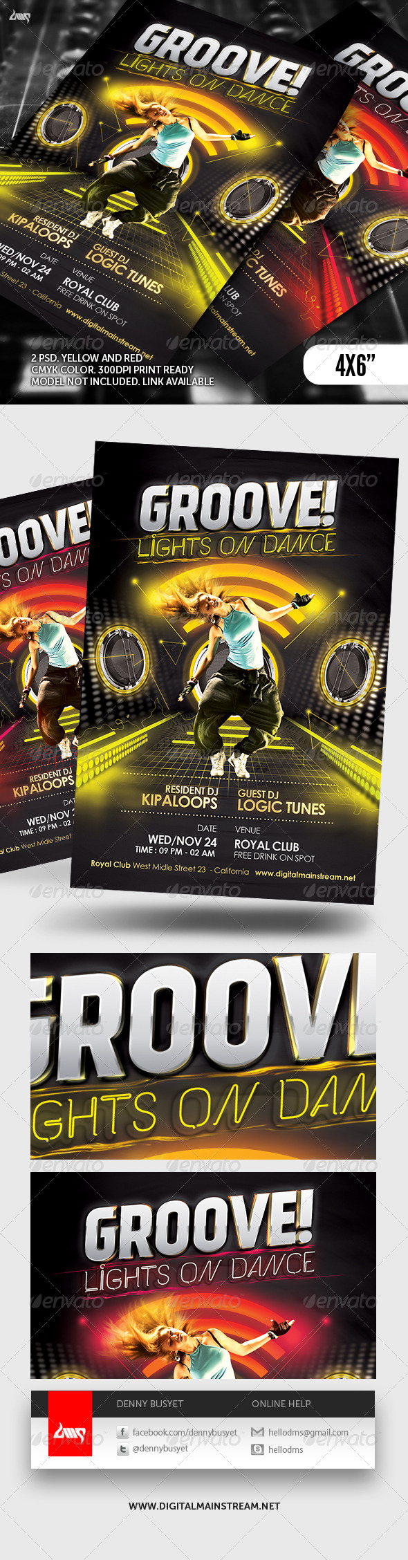 Groove Dance Club Flyer Template - Events Flyers