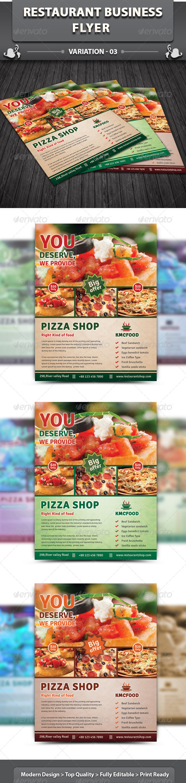 Restaurant Business Flyer   Volume 8 - Restaurant Flyers