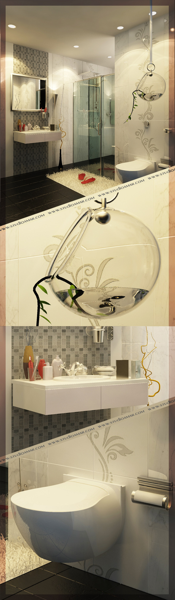Realistic Bathroom 117 - 3DOcean Item for Sale