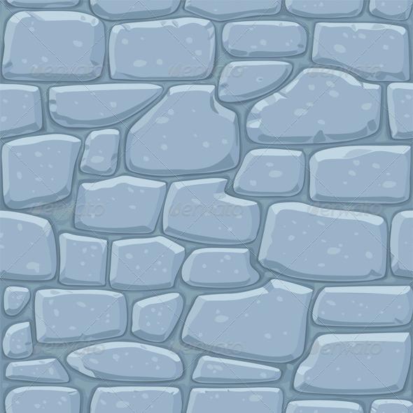 Seamless Pattern of Masonry Stone Wall - Patterns Decorative