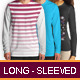 Long-sleeved T-shirt Mockup - GraphicRiver Item for Sale