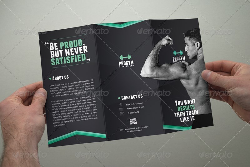 fitness brochure design - fitness brochure tri fold by coxsumon graphicriver