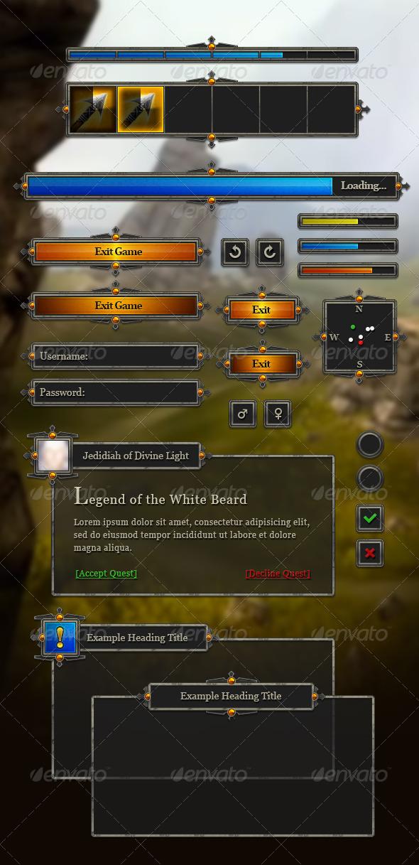 rpg user interface by wintersdesign