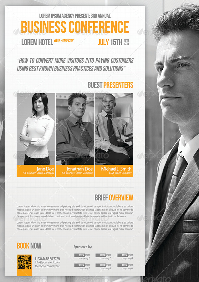 Business Conference Flyer Template 07 by petumDesign – Conference Flyer Template