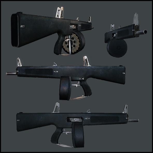 AA12 Assault Shotgun - 3DOcean Item for Sale