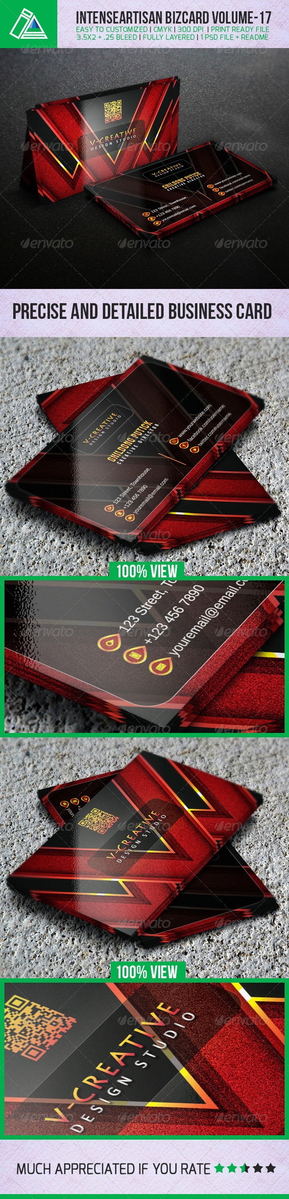 IntenseArtisan Creative Business Card Vol-17 - Creative Business Cards