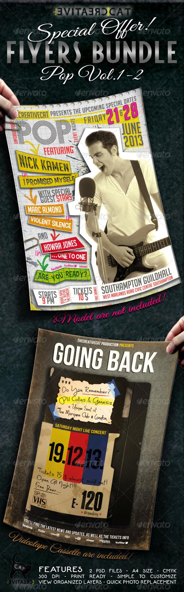 Pop Flyer/Poster Bundle Vol.1-2 - Events Flyers
