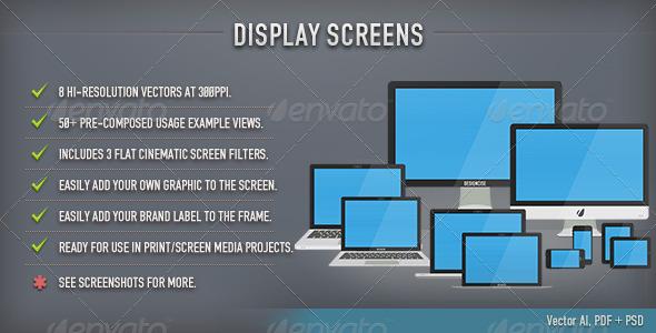 Display Screens (Flat) - Multiple Displays