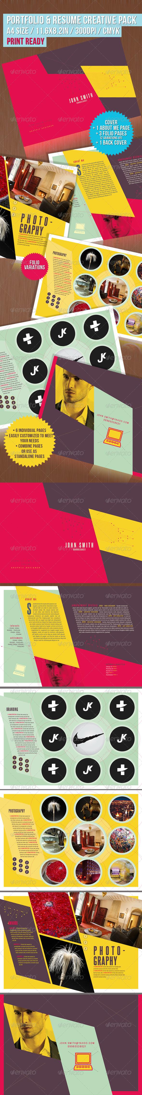portfolio resume creative pack portfolio brochures