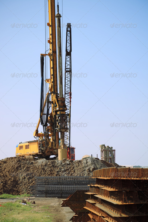 drill rig in site - Stock Photo - Images