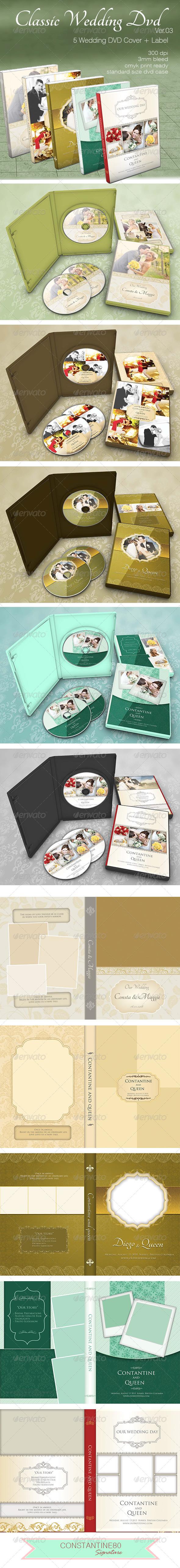 Classic Wedding Dvd ver03 - CD & DVD Artwork Print Templates