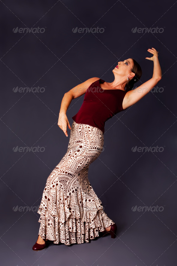 Modern Flamenco dancer woman - Stock Photo - Images