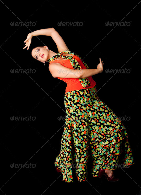 Spanish Flamenco dancer - Stock Photo - Images