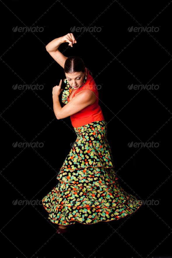 Spanish Flamenco dancer - Stock Photo - Images
