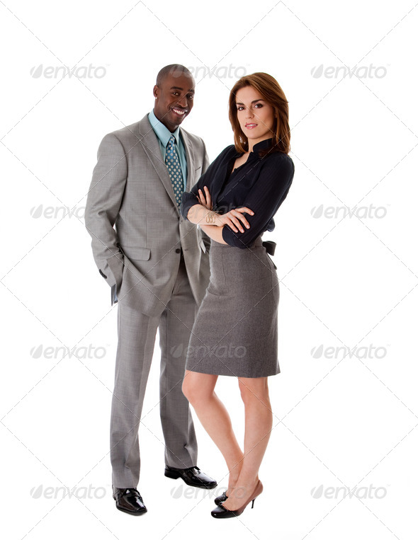 Business couple dreamteam - Stock Photo - Images