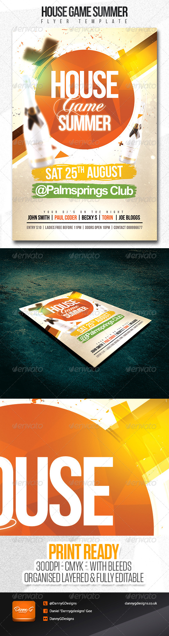 House Game Summer Party/Club Flyer Template - Clubs & Parties Events