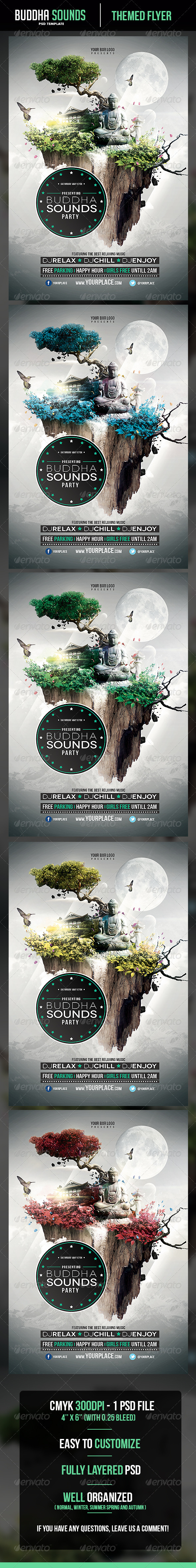 Buddha Sounds Flyer Template - Clubs & Parties Events