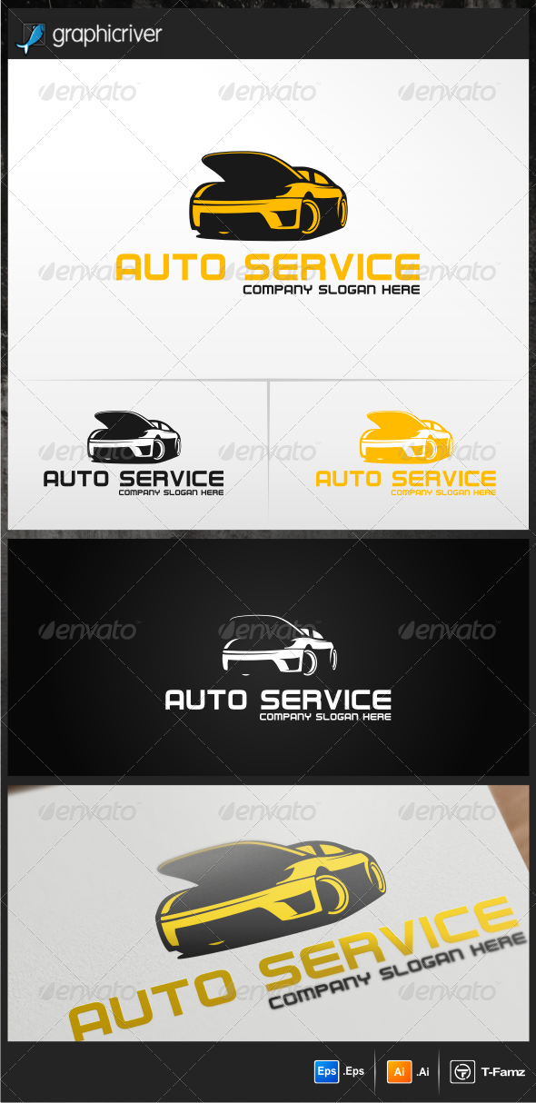 Auto Service - Objects Logo Templates