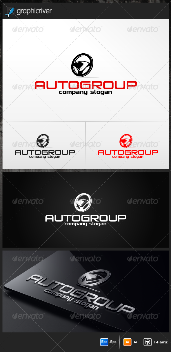 Auto Group Logo Templates - Objects Logo Templates