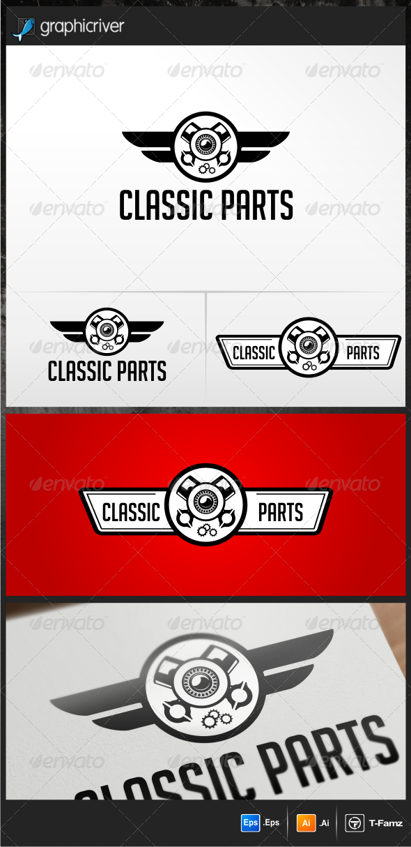 Classic Part Logo Templates - Objects Logo Templates