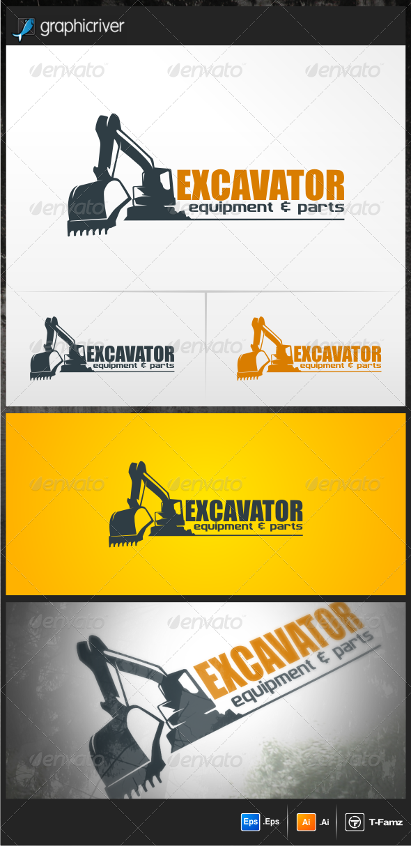 Excavator  - Objects Logo Templates