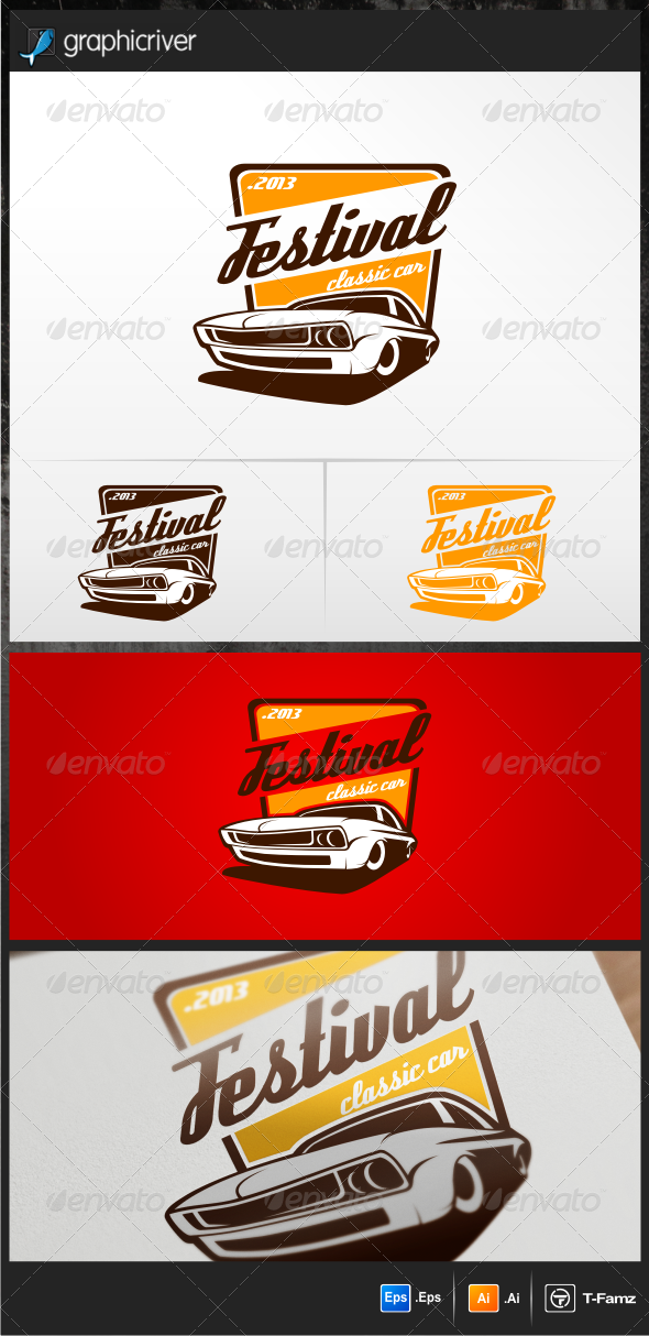 Festival Classic Car Logo Templates - Objects Logo Templates