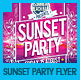 Sunset & Summer Beach Party Flyer - GraphicRiver Item for Sale