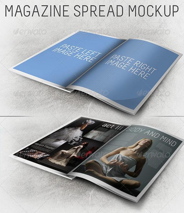 3d magazine spread mockup by scarab13 graphicriver