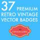37 Premium Retro Vintage Vector Badges  - GraphicRiver Item for Sale