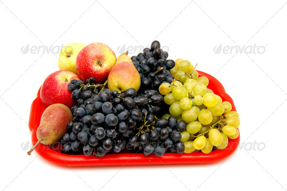 Fruits and bunches of grapes. - Stock Photo - Images