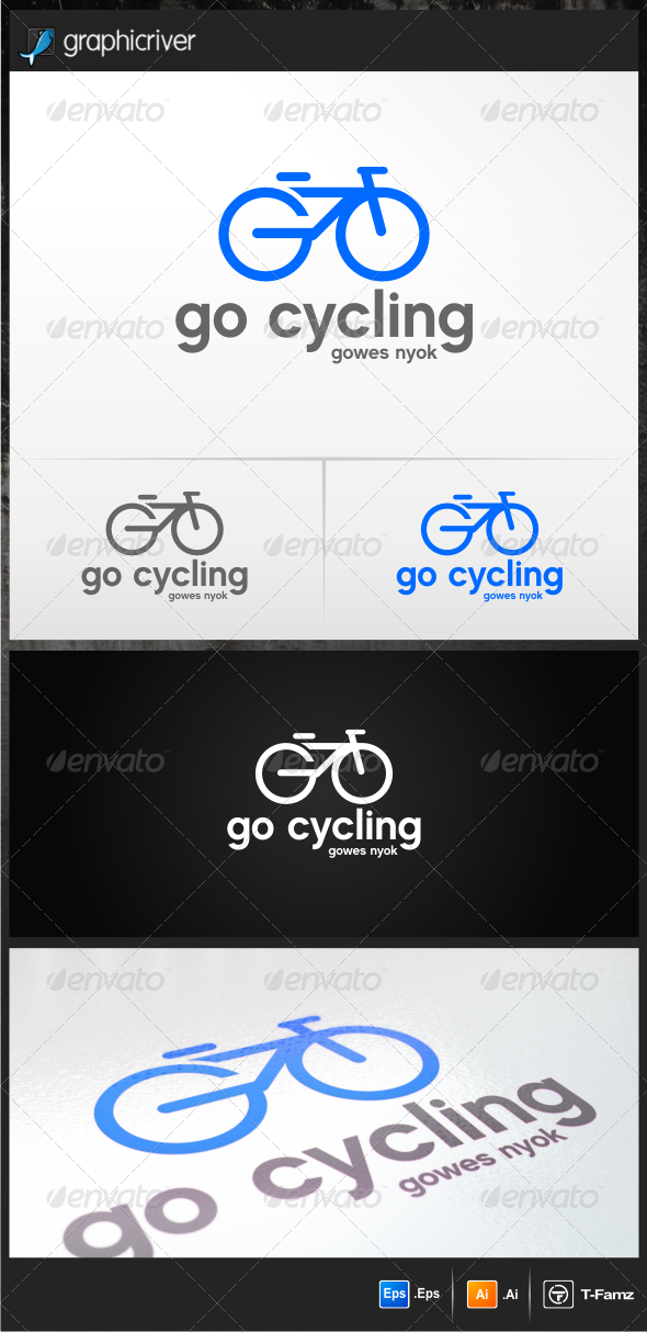 Go Cycling - Objects Logo Templates