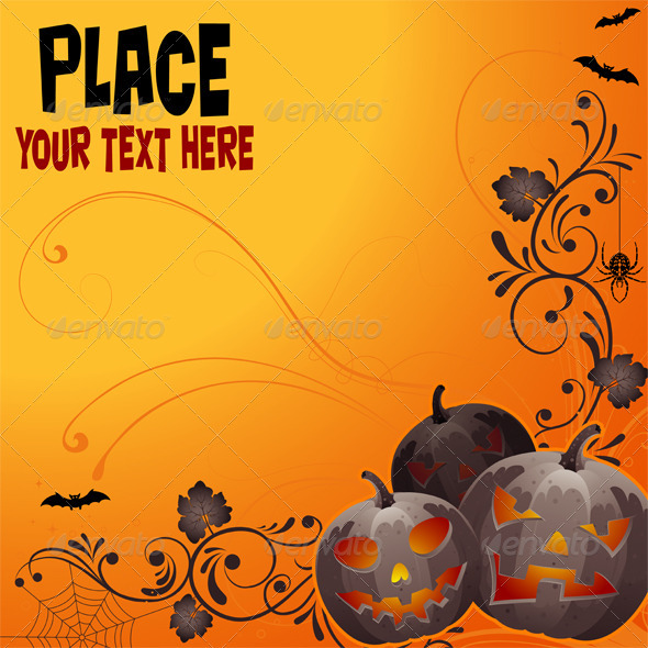Floral Halloween background - Halloween Seasons/Holidays