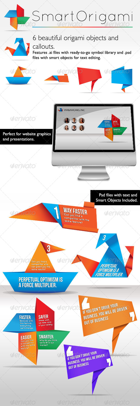 Smart Origami Symbols By Luca8link Graphicriver