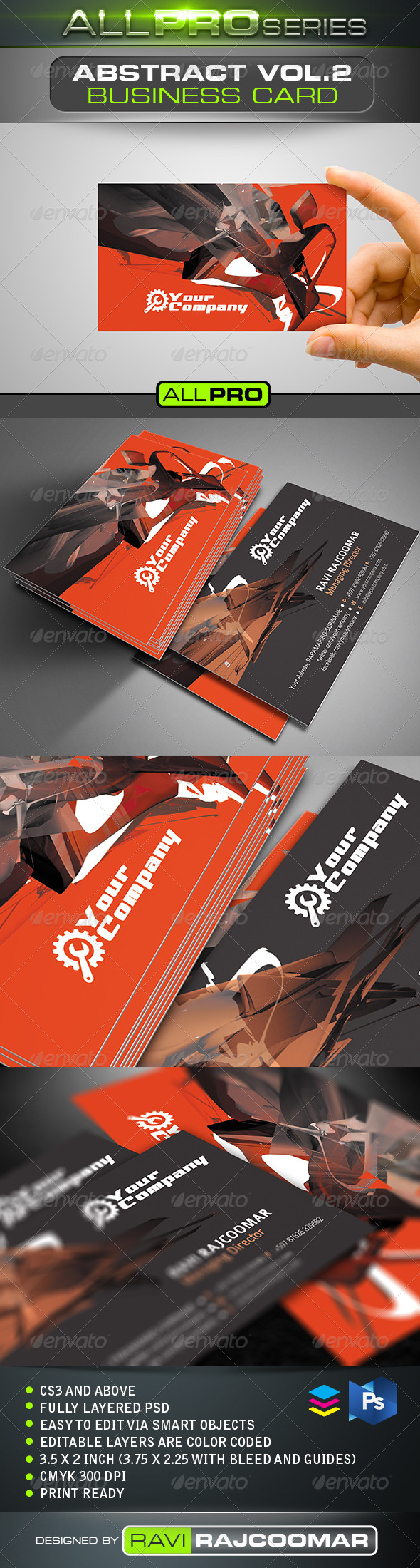 Abstract Business Card Vol.2 - Creative Business Cards