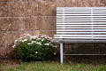 Vintage bench with flawers - PhotoDune Item for Sale