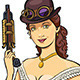 Lady Warrior in Steampunk Style - GraphicRiver Item for Sale