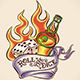 Roll the Dice Tattoo Design - GraphicRiver Item for Sale